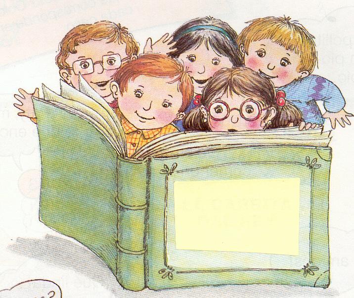 Dibujos tiernos para colorear de niños leyendo un libro - Imagui
